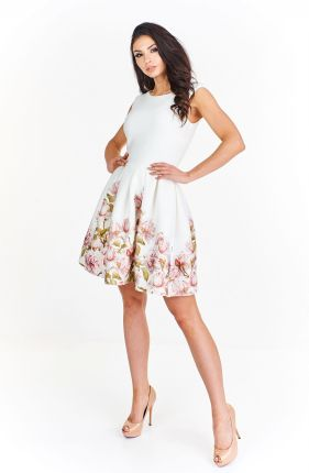 d4c84b434f Sukienka koktajlowa w kwiatowy wzór M55363 1 s Allegro