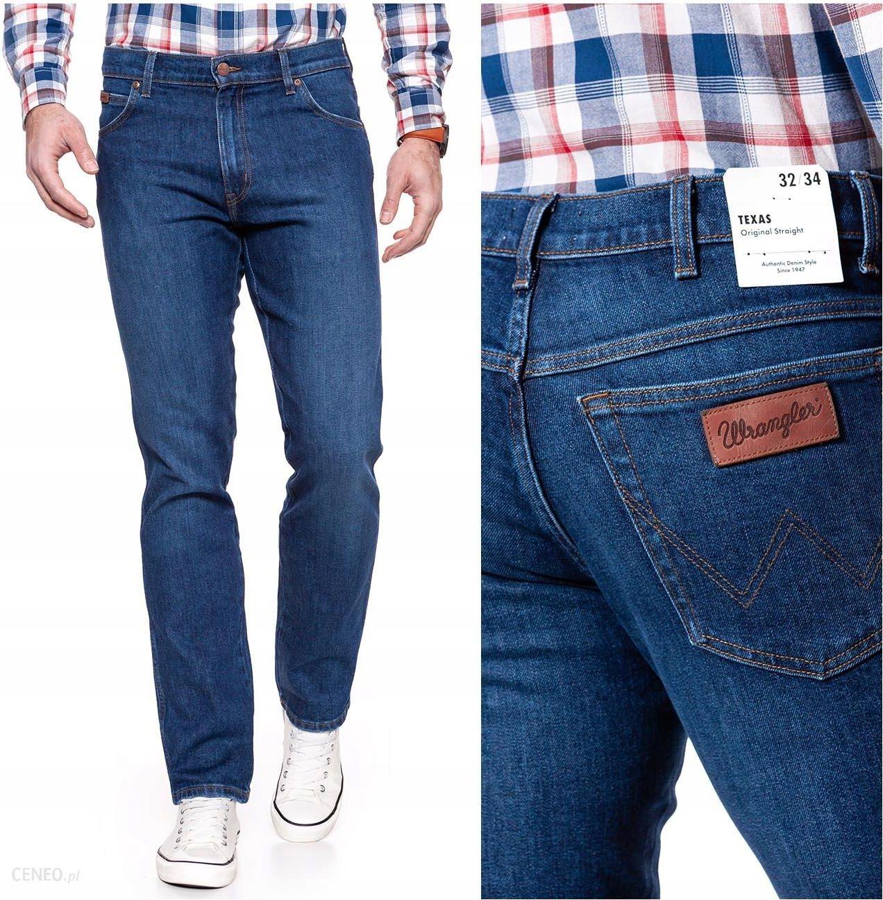 Wrangler Texas Męskie Spodnie Jeansowe __ W38 L32 Ceny i opinie Ceneo.pl