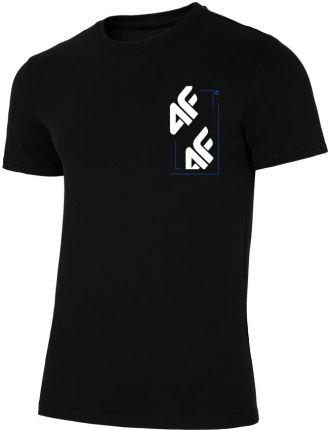 1a6086ed5ca88a Koszulka, t-shirt męski 4F TSM003, głęboka czerń, z nadrukiem, H4L19