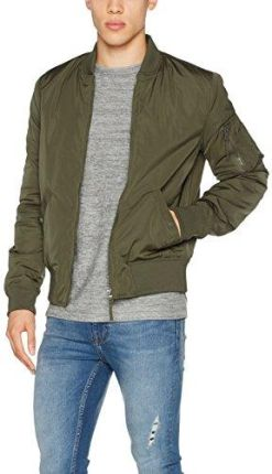 9d33d65b5c628 Amazon New Look męska kurtka Bomber, kolor: zielony (Dark Khaki) , rozmiar