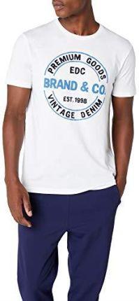 e028350f2c8d Amazon edc by Esprit męski T-shirt - krój dopasowany m biały (White 100