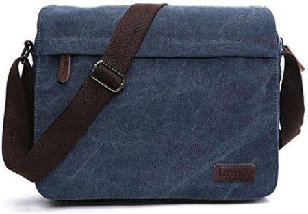 a0e26a48aa644 Amazon LOSMILE męskie torby na ramię, płótno, torby na ramię, torby na  laptopa, tornistry, do szkoły i pracy, dla mężczyzn i kobiet., kolor:  niebieski