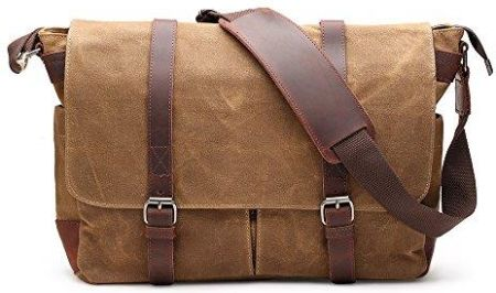 5d6d3db33f12d Amazon H-ANDYBAG Messenger Bag Waxed Canvas Unisex Crossbody Praca Torba na  ramię Pasuje do