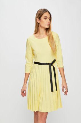 2ba44a2795 Numoco Jasnoróżowa Sukienka Wizytowa Rozkloszowana z Transparentnymi  Rękawami 188