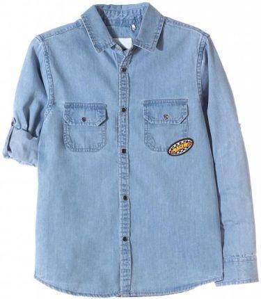 dbb85e7d2 Cool Club, Koszula chłopięca z krótkim rękawem biało-niebieska krata ...