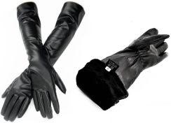 bef8cc7e204d48 Reverse Rękawiczki skórzane Damskie DŁUGIE ocieplane skóra