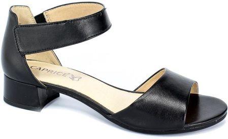 CAPRICE 28305 28 033 black sue comb, sandały damskie