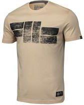 Koszulka Pit Bull Classic Logo'19 - Piaskowa (219003.2500) - Ceny i opinie T-shirty i koszulki męskie WERM