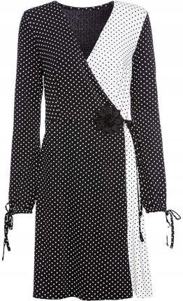 d32da41d94442c Sukienka w groszki z d czarny 44/46 XXL/3XL 944439 Allegro