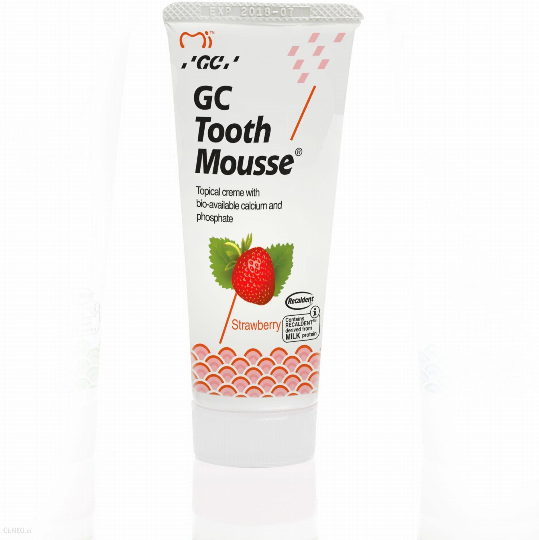 GC Tooth Mousse Płynne szkliwo bez fluoru truskawka 35ml