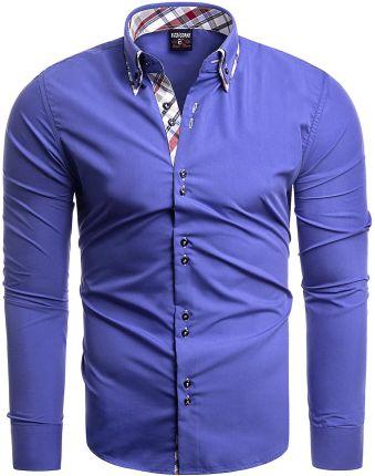 804242c4a73b Koszula męska długi rękaw 613 - indigo