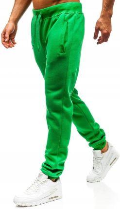 9ffccb156dd154 Spodnie Męskie Dresowe Zielone AK70A Denley_xl Allegro
