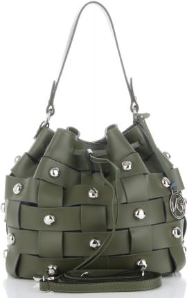 7e83825854712 Vittoria Gotti Modna Torebka Skórzana Unikatowy Shopper Made in Italy  Zielona (kolory) ...