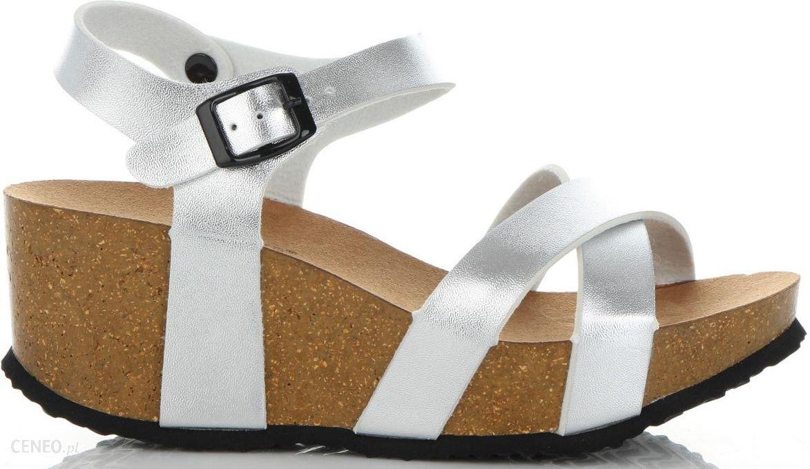 1bfb0c892e8de Modne Buty Damskie na koturnie renomowanej marki Ideal Shoes Srebrne  (kolory) - zdjęcie 1