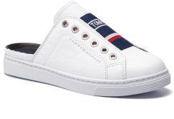 04d65de2a04b9 Klapki TOMMY HILFIGER - Slip One City Sneaker FW0FW03769 White 100 eobuwie