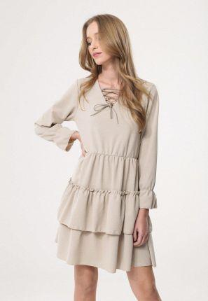 1bb5264105 Sukienka midi Klasyka Gatunku z długim rękawem melange - Ceny i ...