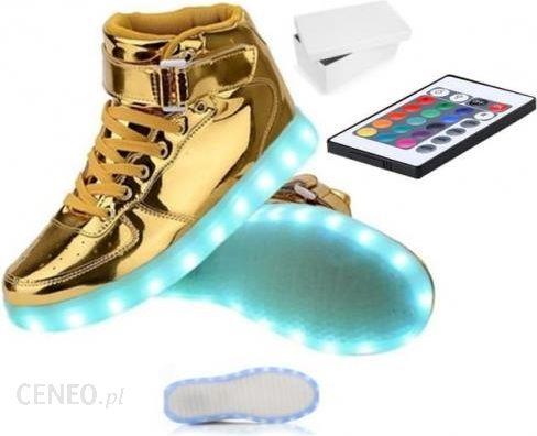 Świecące buty LED sportowe podświetlane Złote