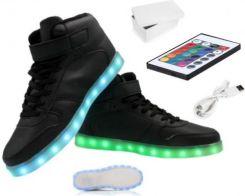 18c4a1e184189 Świecące buty LED sportowe podświetlane czarne