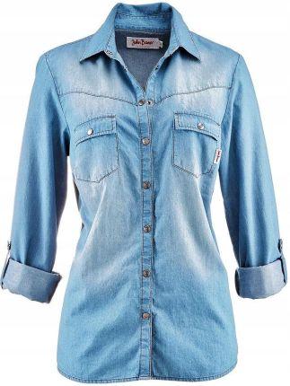 ab25ae03e2 Damska koszula jeansowa rozpinana z ozdobnymi zamkami - Ceny i ...