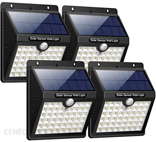 Amazon Iposible Zewnętrzna Lampa Solarna 46 Diod Led Lampa Solarna Z Czujnikiem Ruchu Wodoszczelne Oświetlenie Solarne Led Solarna Lampa 1800 Mah