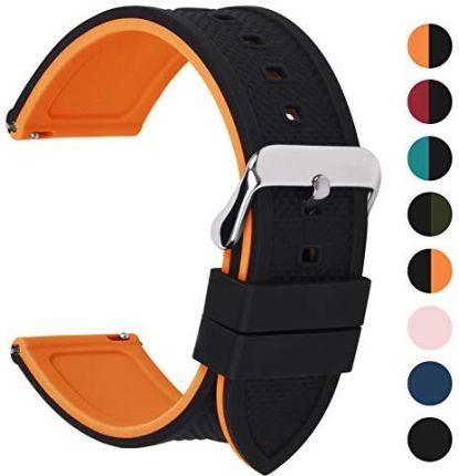 eb58ba372983dc Amazon Fullmosa silikonowy pasek do zegarka, 18 mm, 20 mm, 22 mm,