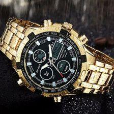 44bdb4e539ad43 Amazon Enjoy-Unique modny, luksusowy męski zegarek kwarcowy, sportowy,  podwójny format czasu