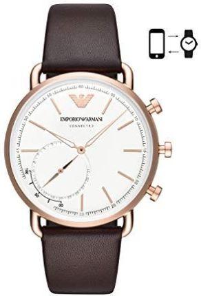 b0d32736b6082e Amazon Emporio Armani męski analogowy kwarcowy Smart Watch zegarek na rękę  ze skórzaną bransoletką ART3029