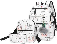 20fda20977bd2 Amazon JUND modna damska torba szkolna Kawaii plecak plecak dziewczęcy  luźny wodoszczelny plecak szkolny nastolatki plecak