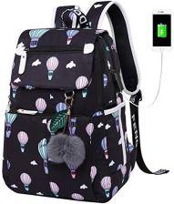 4b2b8074f13b6 Amazon Plecak szkolny dla dziewcząt, lekki, damski, kwiatowy, z portem USB  do