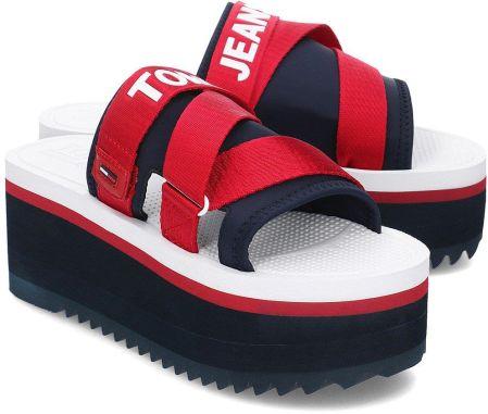 9877a86a9eaea Tommy Hilfiger Jeans Sporty Neoprene Flatform - Klapki Damskie - EN0EN00465  020
