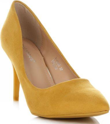 0e124842 Uniwersalne Szpilki Damskie na każdą okazję marki Ideal Shoes Żółte  (kolory) ...