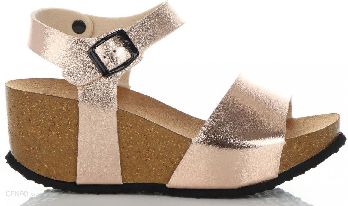 4547bf76a6590d Modne Koturny Damskie renomowanej marki Ideal Shoes Szampan (kolory) -  zdjęcie 1