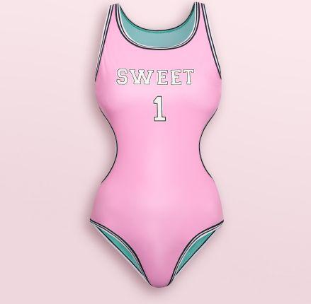 b837b2eb8836c0 Cropp - Jednoczęściowy strój kąpielowy z wycięciem na plecach - Różowy ...