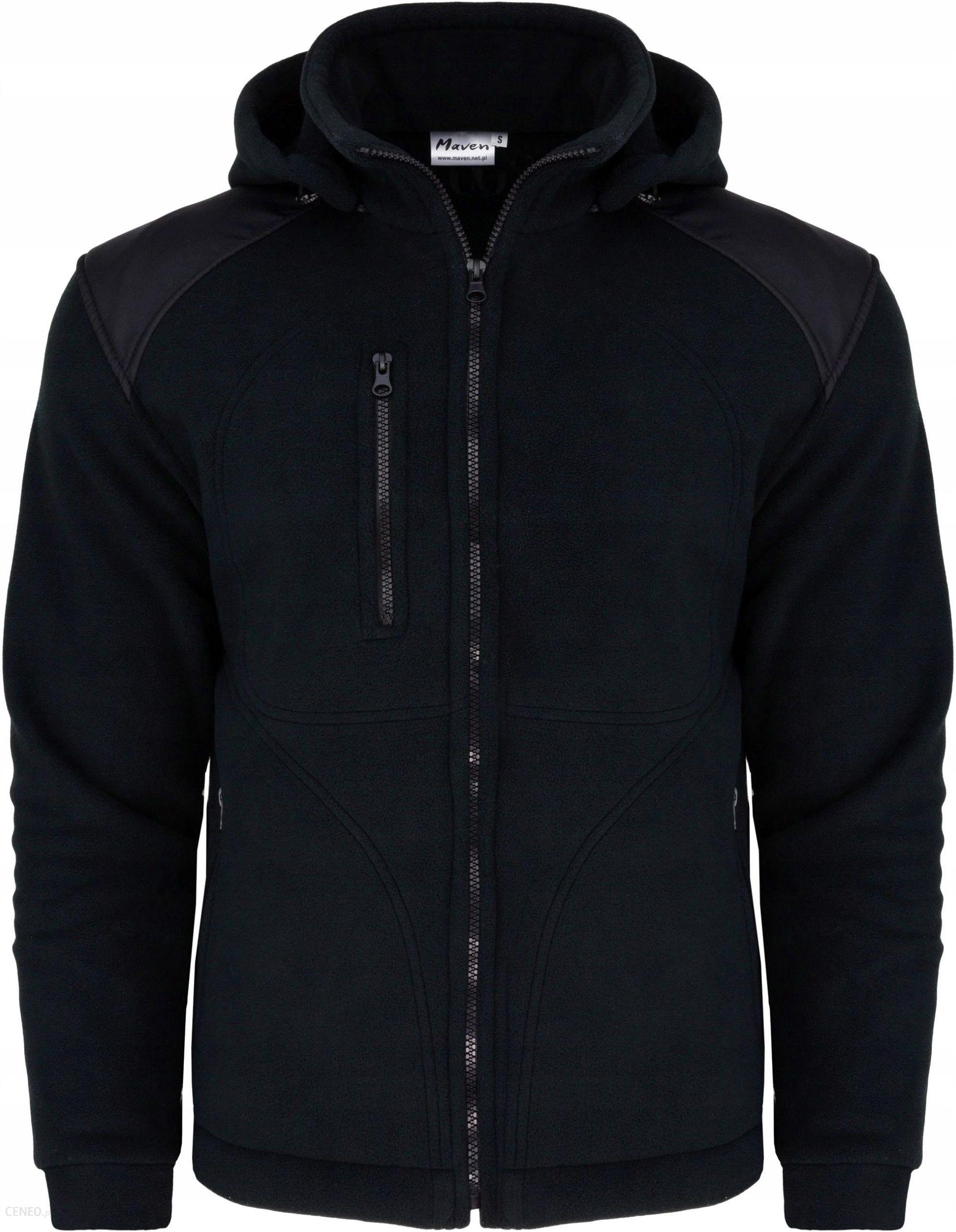 bluza z kapturem męska czarna gruba