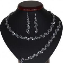 6155dac491acea Pioart Komplet Ślubny Posrebrzany Kryształki Srebrny Kp220