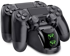 Amazon PS4 Controller stacja ładująca, bebon Cool kontroler Dualshock 4 Ladestation Stand z wyświetlaczem LED oraz kabel USB ładowarka do Sony PlaySta