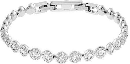 c79d4bfc0d9626 Amazon Swarovski 507117 bransoletka damska, stop metalu ze białymi  kryształami, stop metalowy, srebro