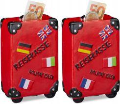 daf75b57d52b2 Skarbonka prezent dla dzieci walizka czerwona 2szt