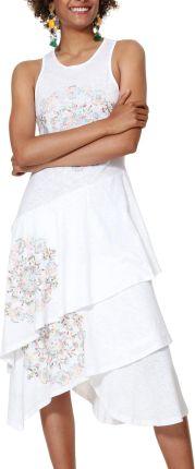 561e3399caa95 Desigual kremowa sukienka Vest Chelsea - S