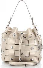 859449828aa93 Vittoria Gotti Ekskluzywne Torebki Skórzane Modny Shopper Made in Italy z  Nitami Złoty (kolory) ...