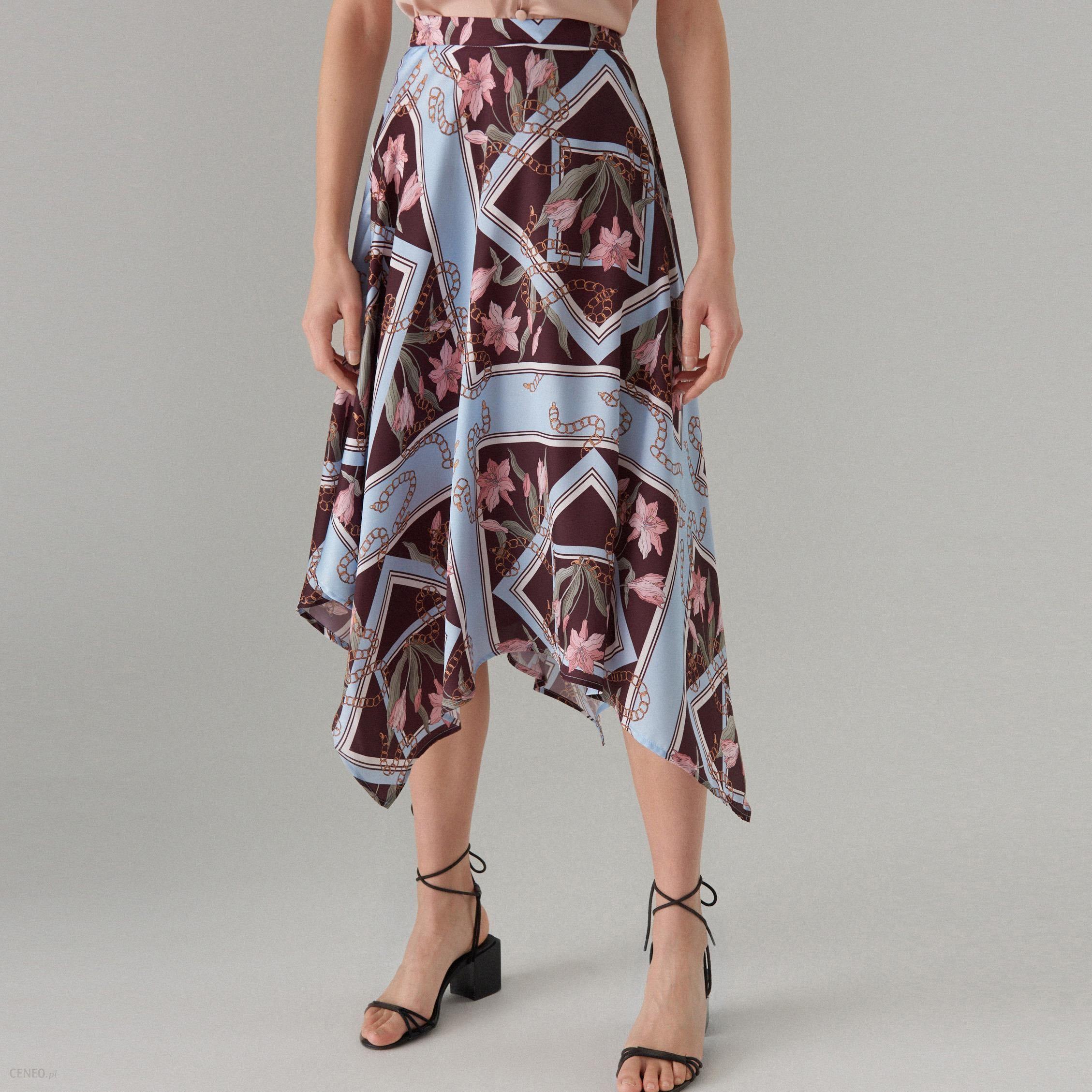 Asymetryczna Spódnica MOHITO Camel   Spódnica, Buty na