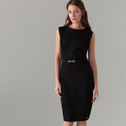 228f73a729 Mohito - Dopasowana sukienka z paskiem - Czarny Mohito