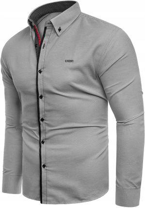 e0fa188d02b3 Koszula męska jeansowa długi rękaw rl15 - niebieska Risardi - Ceny i ...