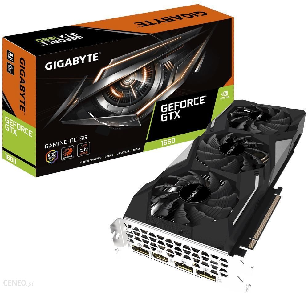 """Gigabyte GeForce GTX 1660 GAMING 6GB OC"" (GVN1660GAMINGOC6GD)"