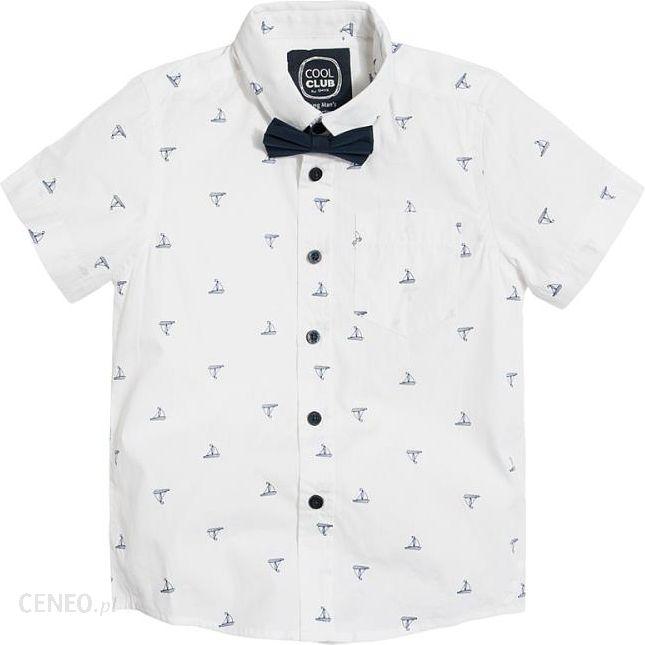 Cool Club, Koszula chłopięca z muchą, długi rękaw, żaglówki Ceny i opinie Ceneo.pl