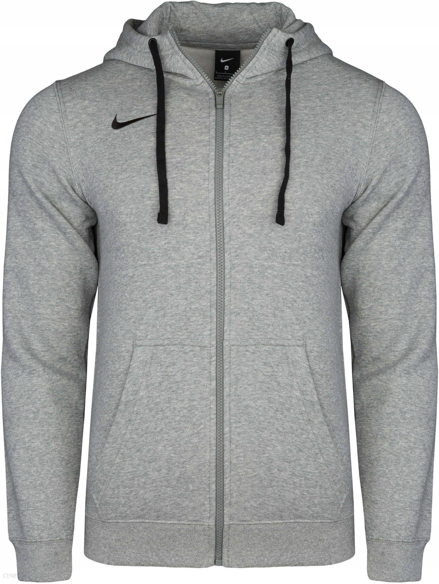 NIKE bluza męska dresowa z kapturem siwa XL