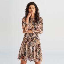 2f3dc65d06 Reserved - Wzorzysta sukienka - Wielobarwn ...