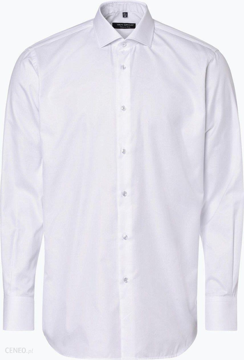 16628caaf2fc2 Van Graaf - Męska koszula z poszetką, czarny - zdjęcie 1