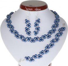 8e0a203b4f04c6 Pioart Ślubny Srebrny Perły Granatowy Ks100
