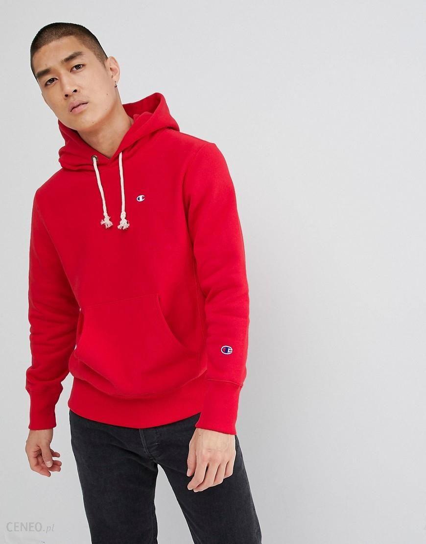kupować moda designerska przyjazd Champion reverse weave hoodie with small logo in red - Red
